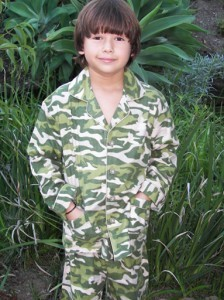 """Commando"" flannel set; Available in kids sizes 2 - 18; $34"
